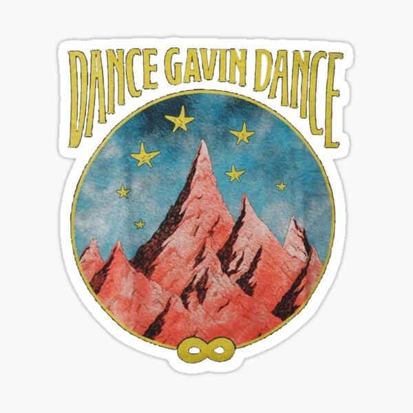 Dance Gavin Dance Mountain Stars Graphic Design  Sticker