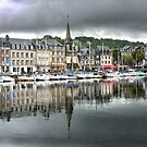Honfleur  Harbour (6) Reflecting by Larry Lingard-Davis