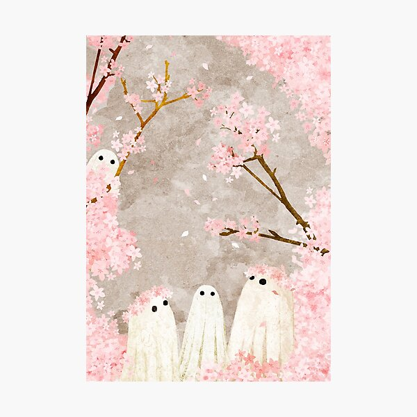 Cherry Blossom Party Photographic Print