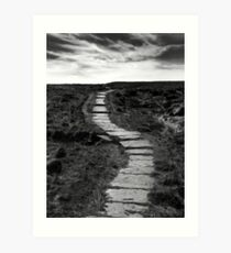 Lifes Paths Are Never Straight But Over The Horizon May Be Your Dream Art Print