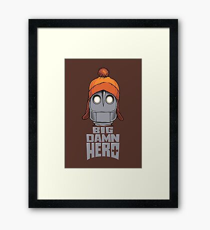 Big Damn Hero Framed Print