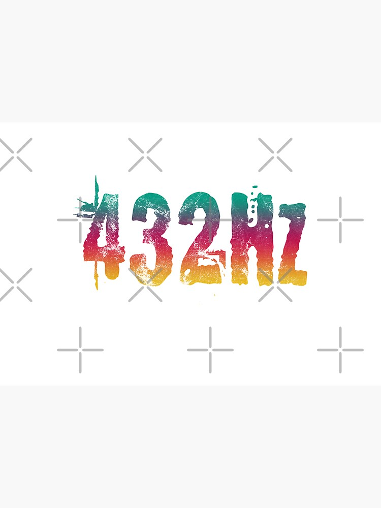 432Hz Music Frequency 432 Hertz Tuning Color Style Graphic Hertz Print by thespottydogg
