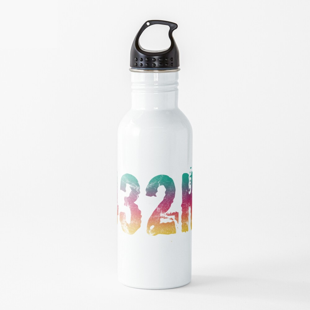 432Hz Music Frequency 432 Hertz Tuning Color Style Graphic Hertz Print Water Bottle