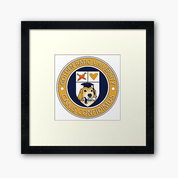 Golden Ratio University Seal Framed Art Print