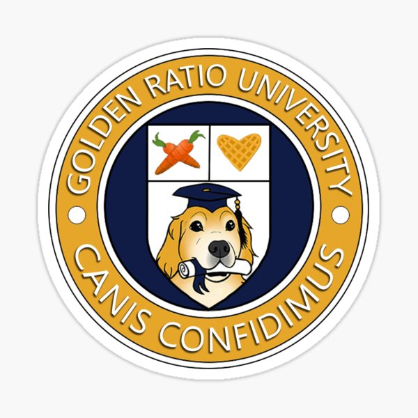 Golden Ratio University Seal Sticker