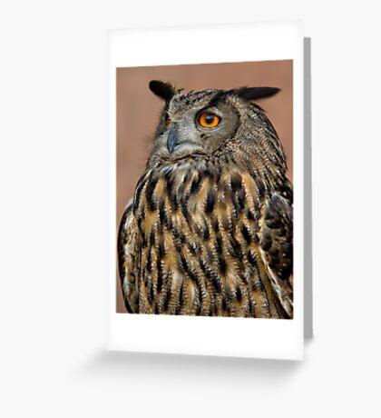 European Eagle Owl  Greeting Card