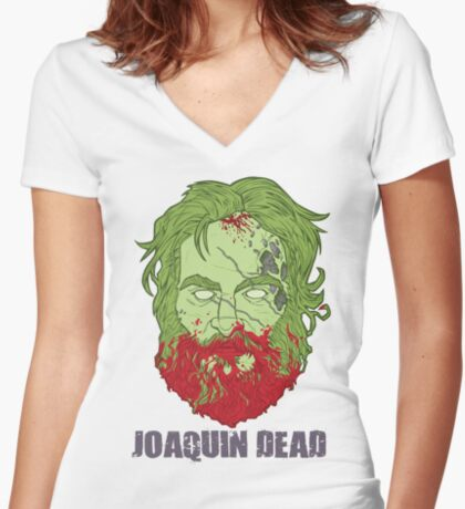 Joaquin Dead Women's Fitted V-Neck T-Shirt