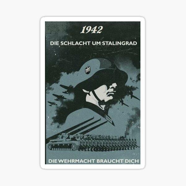 Póster Segunda Guerra Mundial - Stalingrado Pegatina