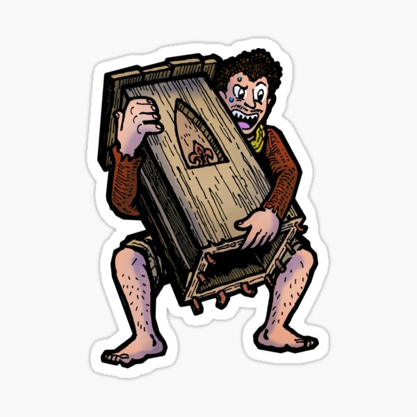 Adam Carrying the Podium Sticker