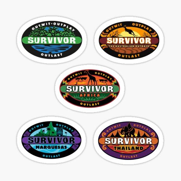 survivor seasons 1-5 Sticker