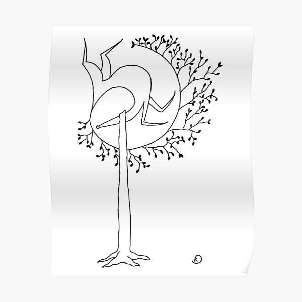 The Saluki Tree Poster