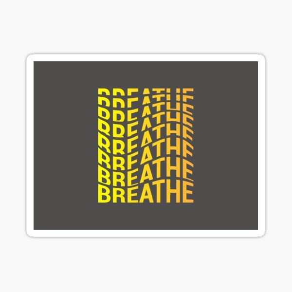Flowing Breathe Typograhy Sticker