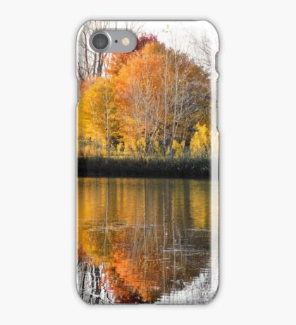 Reflections, Angrignon Park, Montreal iPhone Case/Skin