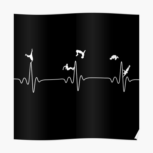 Heartbeat Parkour for lovers Poster