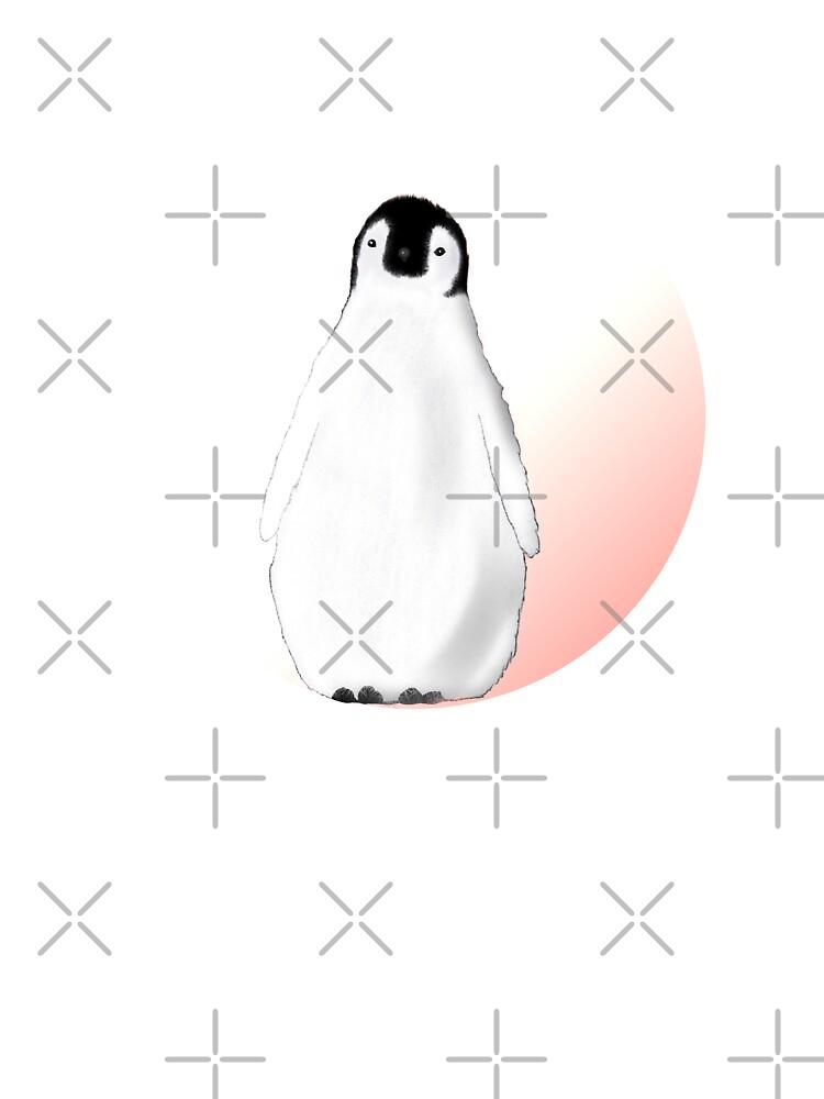 Queen of Cases Cute Penguins Mens Longsleeve Tee
