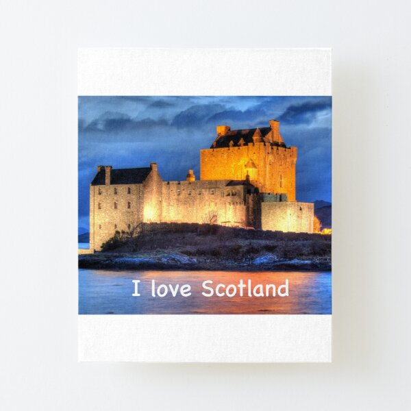 I love Scotland and Eilean Donan Castle , the Highlands , Scotland in winter Canvas Mounted Print