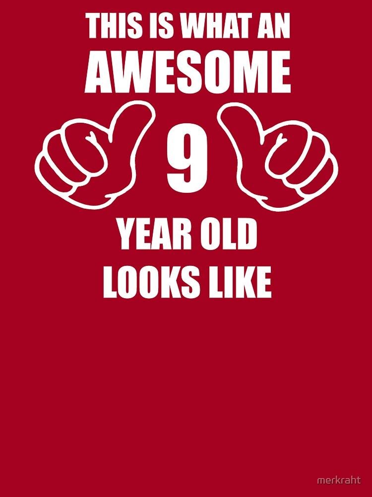 9th Birthday Gift T-Shirt For 9 Year Old Boys /& Girls It Took Me 9 Awesome