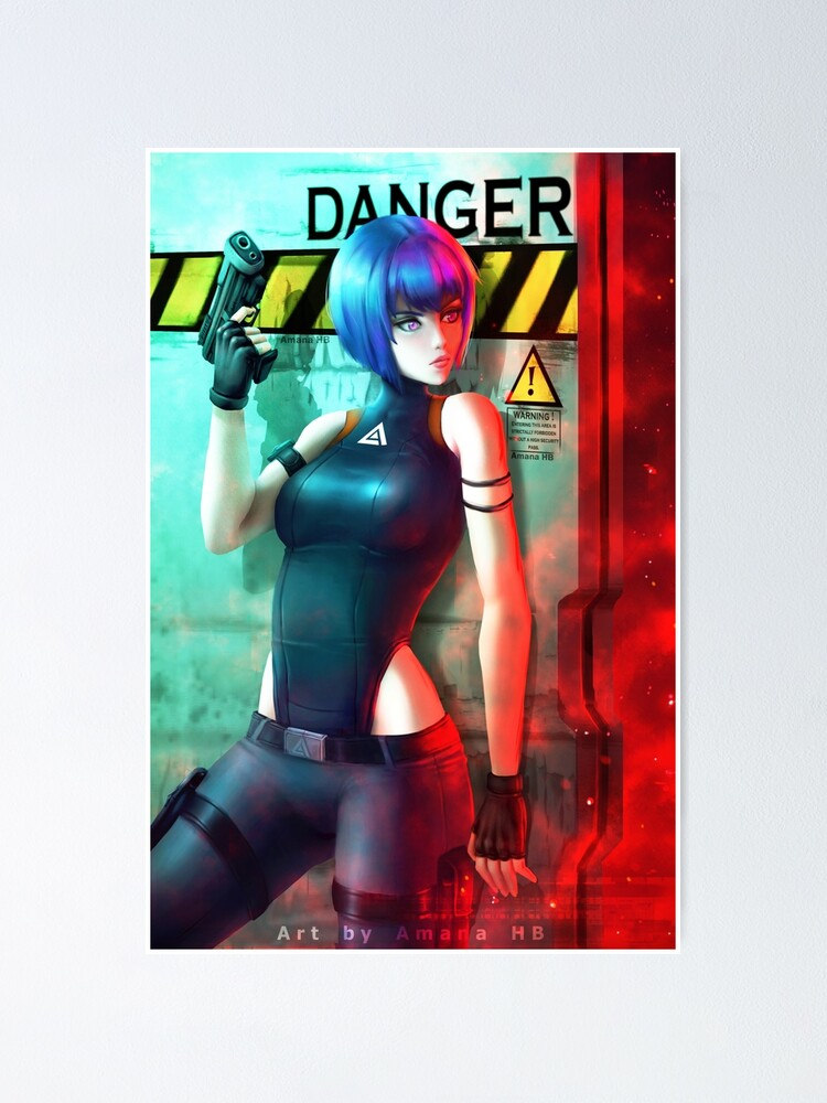 Ghost In The Shell Sac 2045 Poster By Amana Hb Redbubble