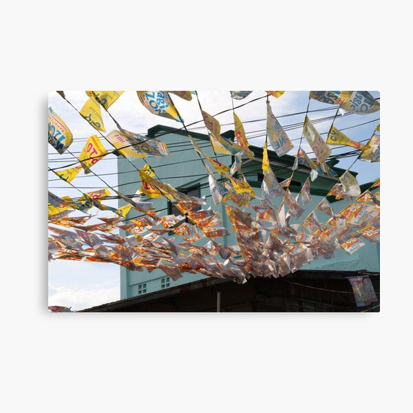 Decorations for a local festival Canvas Print