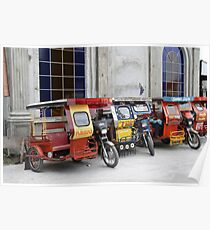 Tricycles in the Philippines Poster