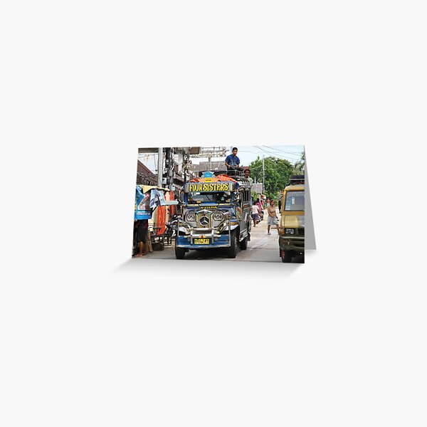 A jeepney in the Visayas Greeting Card