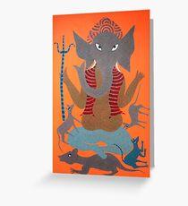 Ganesh drawing greeting cards redbubble shree ganesh greeting card m4hsunfo
