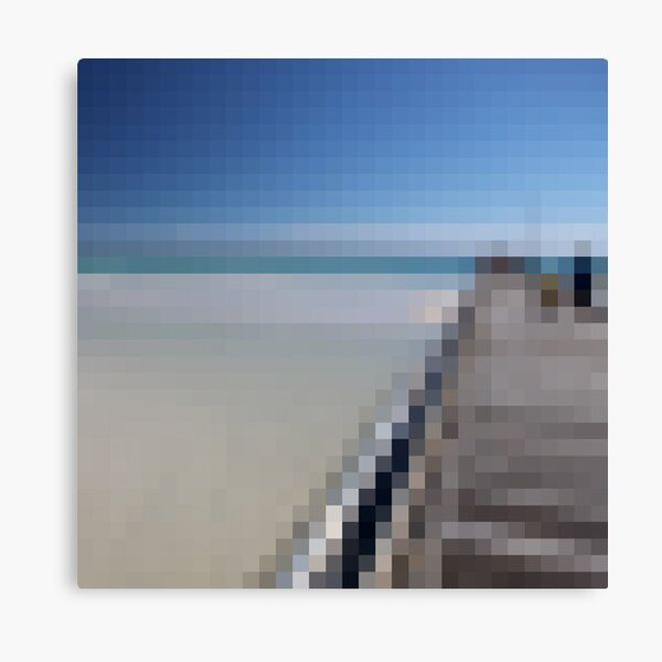 32 by 32 - Mother and Son on Jetty Canvas Print
