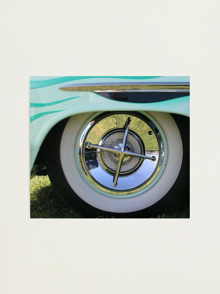 Alternate view of Vintage Car Wheel Photographic Print