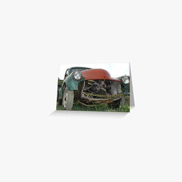 Morris Minor Greeting Card