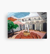 Patio Colonial Canvas Print