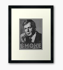 Smoke! Funny Obama Hope Parody (Smoking Man)  Framed Print
