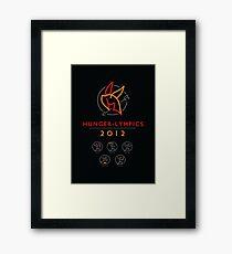 Hunger-lympics - POSTER Framed Print