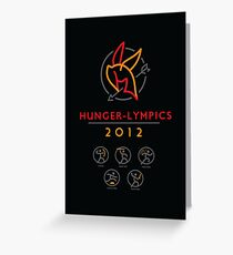 Hunger-lympics - POSTER Greeting Card