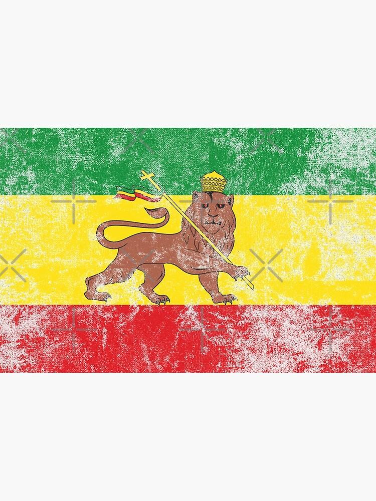 2x Sticker aufkleber Äthiopien flagge rasta reggae lion judah flagge Äthiopien