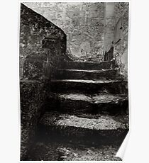 Stairway, The Sassi Quarter, Matera, Italy Poster