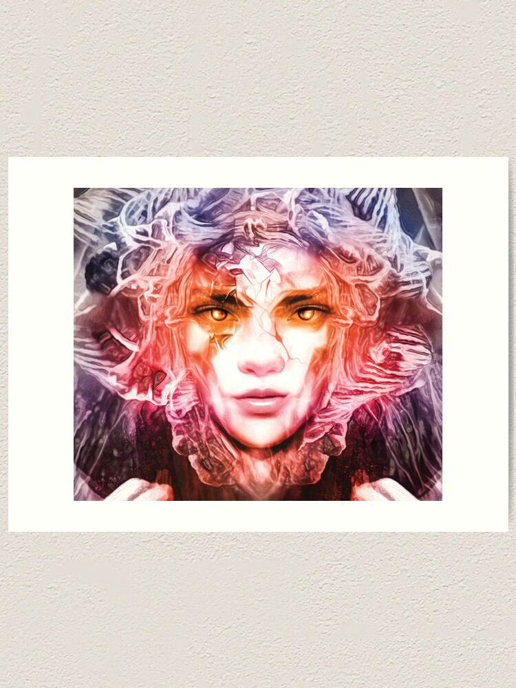 Alternate view of Beautiful Fantastic Woman Portrait  Art Print