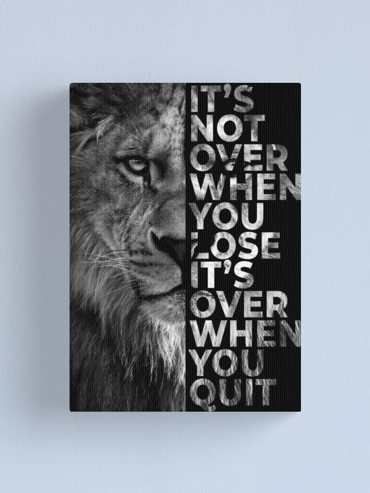 Alternate view of Never give up - Lion Canvas Print