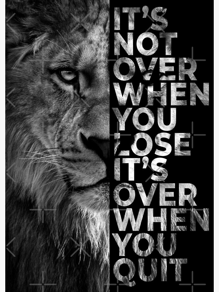 Never give up - Lion by Luna7