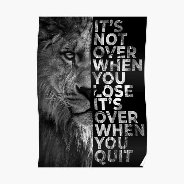 Gib niemals auf - Löwe Poster
