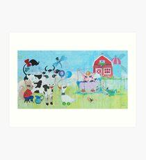 Once Upon a Barn Art Print