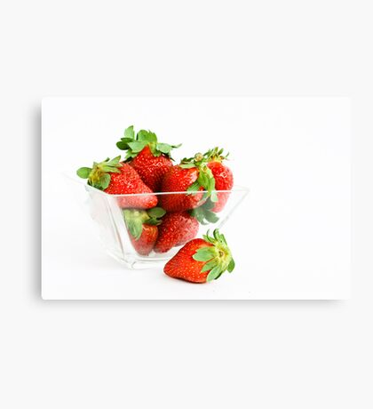 Yummy Strawberries Canvas Print