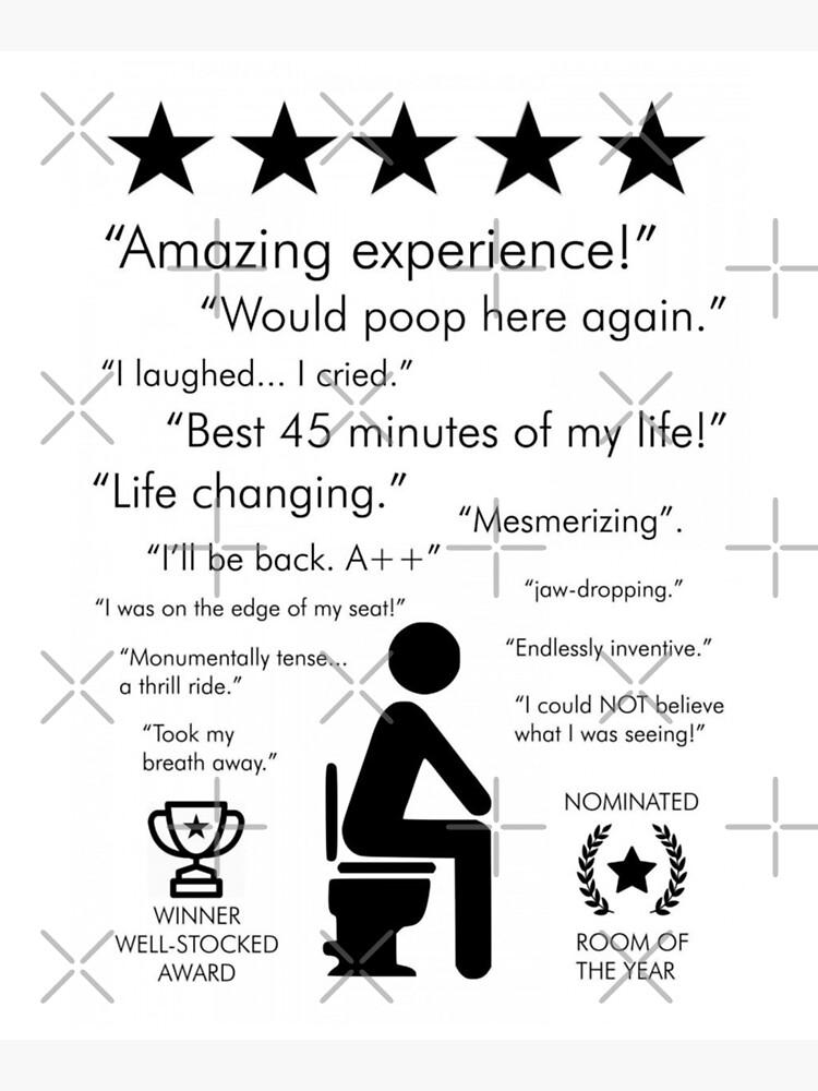 Funny bathroom reviews by Luna7