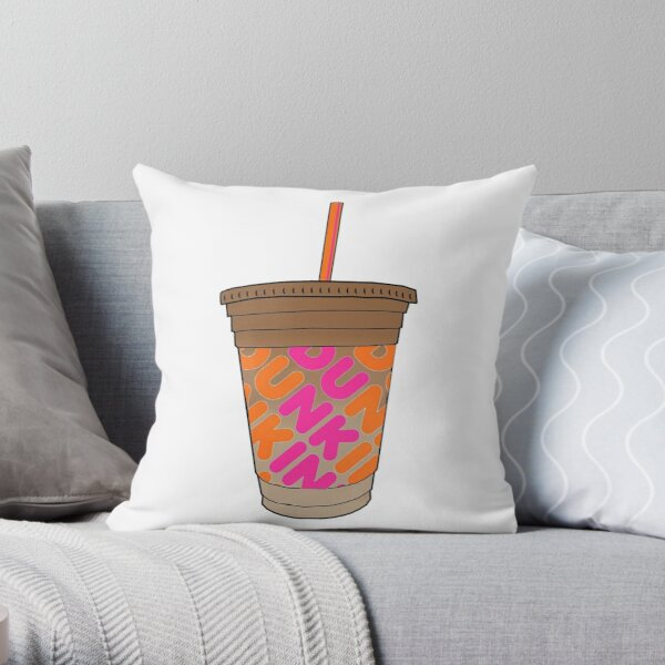 Dunkin Donuts Iced Coffee Throw Pillow