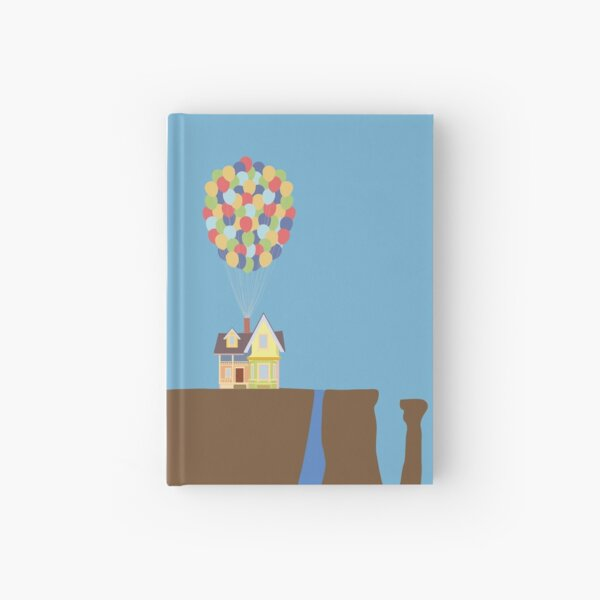 Colourful House with Balloons on Cliff Hardcover Journal
