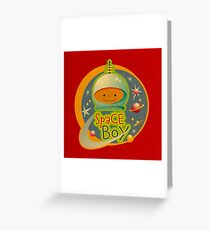 Space Boy! Greeting Card