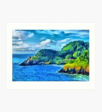 Heceta Head Lighthouse, Oregon Art Print