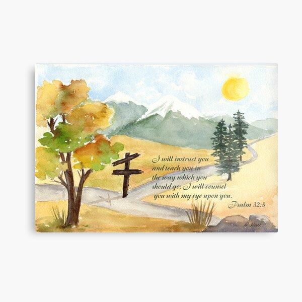 Heavenly Guidance -  Psalm 32:8 Metal Print