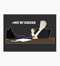 Not My Division - DI Lestrade (white text) Photographic Print