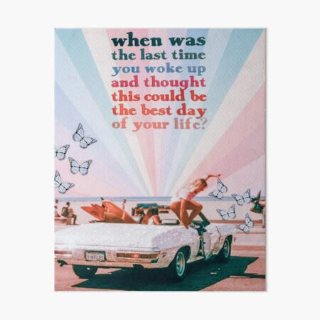 WHEN WAS THE LAST TIME... Art Board Print