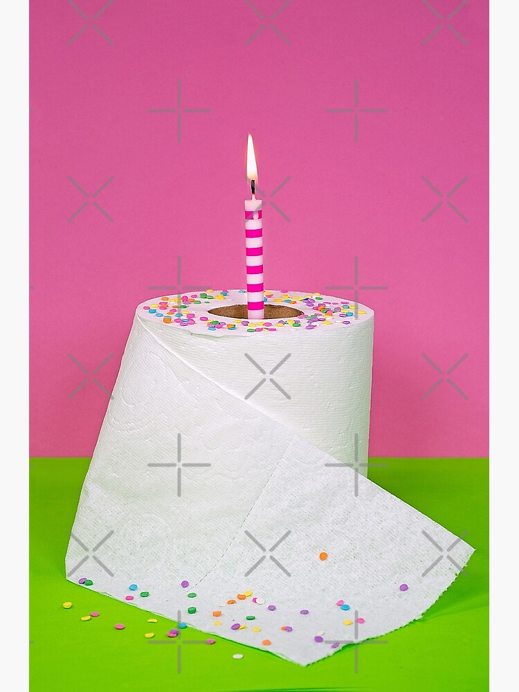 Sensational Toilet Paper Cake Greeting Card By 14Ktgold Redbubble Personalised Birthday Cards Paralily Jamesorg